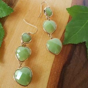 Jewelry - NWOT faux jade dangles